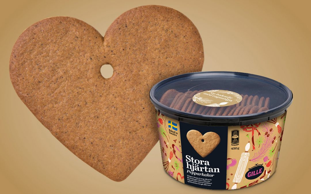 New! Ginger snaps, large hearts – finer, thinner and baked with rapeseed oil
