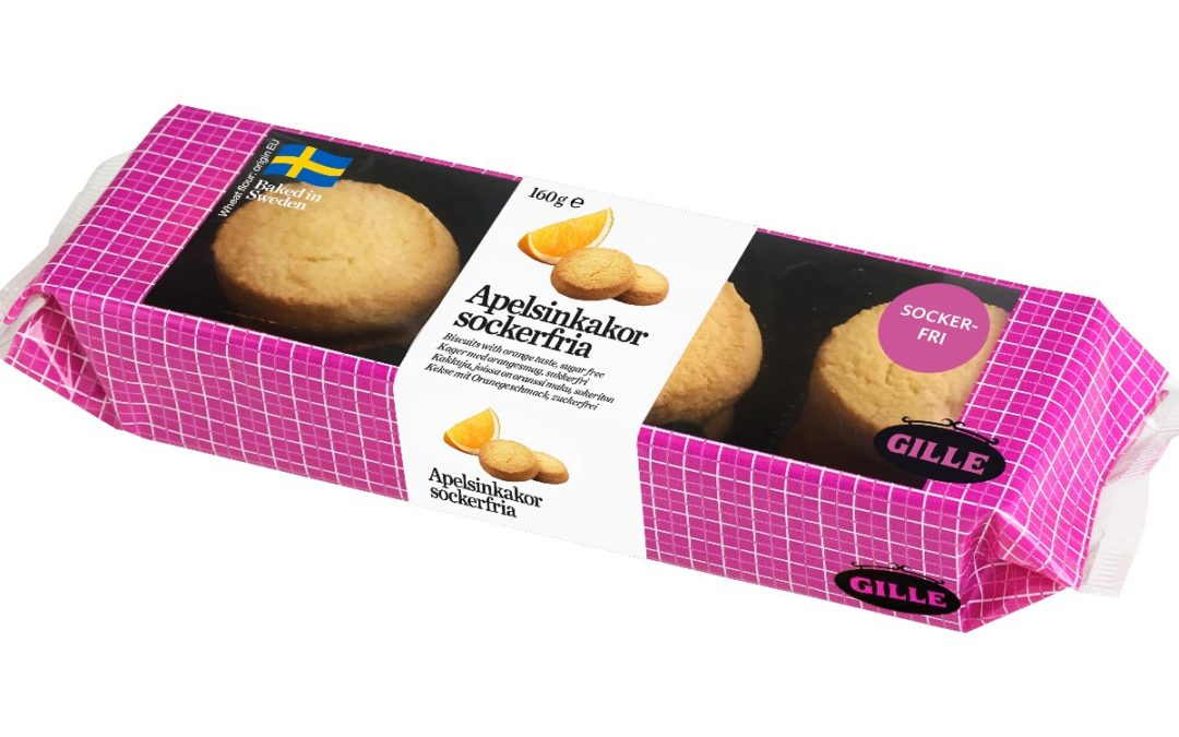 New from Gille! Sugar-free Orange Cookies